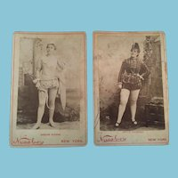 Victorian Thespians - Circa 1900s Studio Photographs Mounted on Cardboard