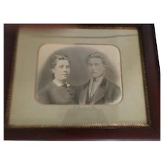 Circa Late 1800s Framed and Matted Charcoal Drawing