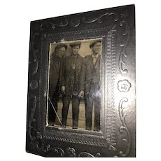 Mid-19th Century Studio Tintype of Three Working Gentlemen