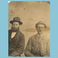 Mid-19th Century Studio Tintype of Two Gents in Their Sunday Best