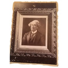 Studio Photograph of a Framed Portrait of the First Prime Minister of Canada