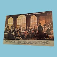 Circa 1960s 1867 Restaurant Postcard of 'The Fathers of Confederation'