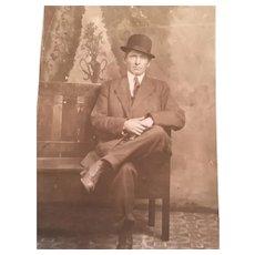 Victorian Clarke's Photo Studio Postcard of a Dapper Gentleman