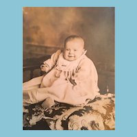 Victorian H. R. Niebel Photo Studio, Norwood, Chubby Baby Postcard