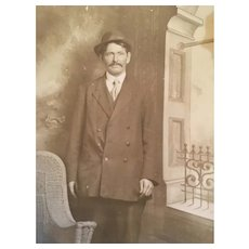 Edwardian Clarke's Studio, Hamilton Photo Postcard of a Gentleman