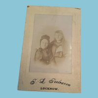 Victorian T. L. Tieleaven, Lucknow Studio Photo of Two Ladies