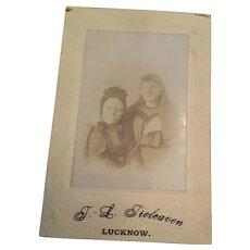 Victorian T. L. Tieleaven, Lucknow Studio Photo of Two Ladies