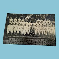 1951 Three Quarter Century Softball Club Photo Postcard