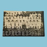 1952 Three Quarter Century Softball Club Photo Postcard