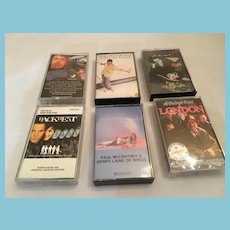 Circa 1970s - 80s Six British Music Stereo Cassettes - Mostly paul McCartney