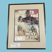 August 5, 1996 Framed complete 'Sports Illustrated' Magazine Honoring Carl Lewis