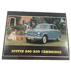 "1950s Mint-Under-Glass ""Austin A40 Cambridge"" Vintage Car Advertising"