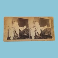 1895 Stereoscope Card Which Tells a Couple's Story