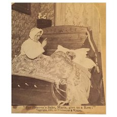 1890 Stereoscope Card Which Tells a Couple's Story of Nagging