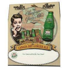 Millennium Limited Edition Canada Dry Advertising Poster on Hardboard