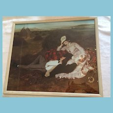 Framed print of an 1870 Colored Painting Signed by Paul  Szinyey.