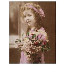 Circa 1908 'Little Darlin' Hand-Tinted French Edwardian Postcard