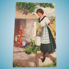 Century Old Unused 'The Beauties of the Farm' Sharples Separator Advertising Postcard
