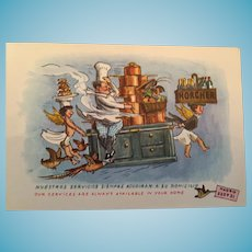 Century Old 'Horcher' Unused Postcard Advertising Catering Services