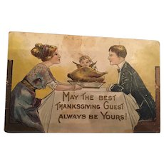 1911 'Thanksgiving' postcard to Ms Frances Shaw of Boonton, New Jersey