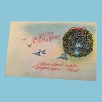 Signature Gift - Century Old  Unused Christmas Bluebird Postcard