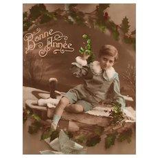 Circa 1905-1910 'Lord Fauntleroy' Edwardian Hand-Tinted French Postcard