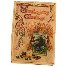 Sweet 1913  Embossed Turkey Thanksgiving card