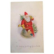 1919 Christmas Postcard with Santa