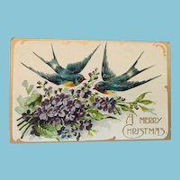 A Signature Gift: Unused Century Old Christmas Postcard
