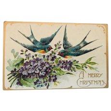 A Signature Gift: Unused Century Old Christmas Postcard