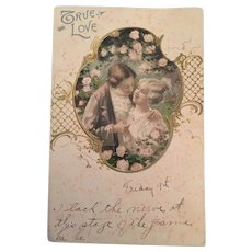 1906 'True Love' postcard to Ms Gladys Barr of Chatham, Ontario