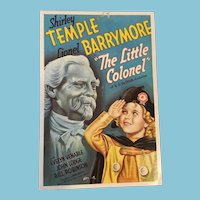 Unused Shirley Temple 'The Little Colonel' Movie Poster Postcard
