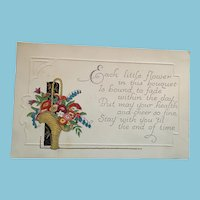 Perfect for Coronavirus Circa 1920s Unused 'Stay Healthy' Greeting Postcard