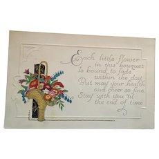 Perfect for Coronavirus Circa 1920s Unused 'Stay Healthy' Greeting Postcard