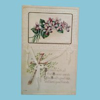 Perfect for Coronavirus -  Circa 1920s Good Health Greeting Postcard