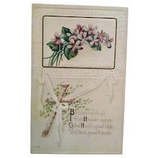 Perfect for Coronavirus -  Circa 1920s Good Health Greeting Postcard