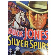 Unused Movie Poster of 'Buck Jones Silver Spurs' Postcard