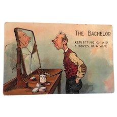 Circa 1920s Numbered Comic Bachelor Postcard