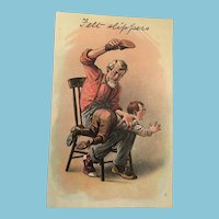 1910 Comics Series Unused J. J. Marks 'Spanking' Postcard