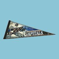 NHL Souvenir Pennant for the Washington Capitals Hockey Team