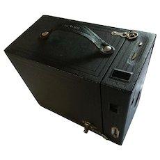 "Houghton Ltd.  London, England Ensign 2 1/2"" Box Prum Camera circa 1904-1920"