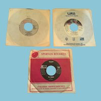 Three 70s-80s 45 RPM Vinyl Records by Pointer Sisters, Stevie Nicks, and B.J. Thomas