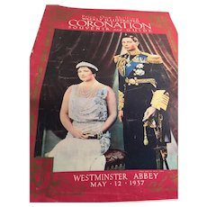 Weekly Illustrated: Coronation: Souvenir and Guide: King George V: Westminster Abbey: May 12, 1937