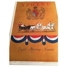 The Sphere Magazine: Royal Marriage: November 29, 1947: Princess Elizabeth: Duke of Edinburgh