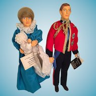 Set of three 'House of Nisbet' Dolls Commemorating the Birth of Prince William