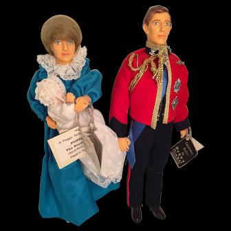 Set of M-I-B Vintage House of Nisbet Royal Birth Commemorative Model Dolls - Diana, Charles, and William