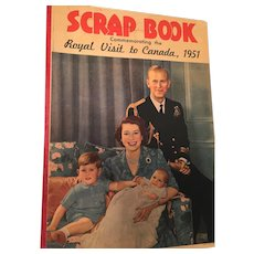 Set of Two Vintage Magazines Featuring Queen Elizabeth II and a blank 1951 Royal Visit to Canada Scrapbook