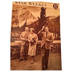 Set of Two Vintage Star Weekly Journals featuring King George VI and Queen Elizabeth II.