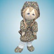 "48"" Giant Vintage Holly Hobbie Sleep Upon Rag Doll"