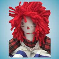 "18"" Handmade Vintage Raggedy Ann Doll"
